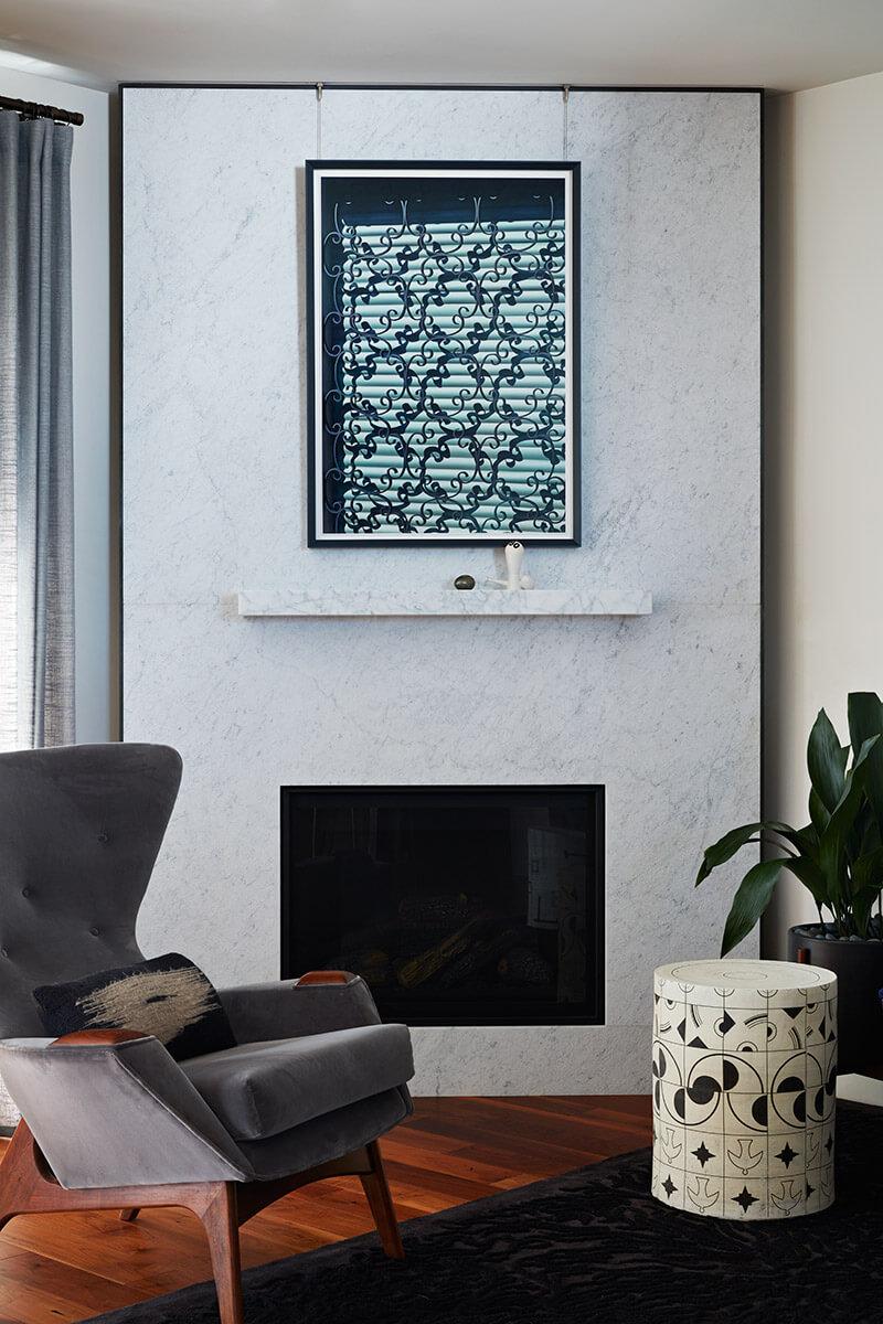 studio vara residential 21st street fireplace marble