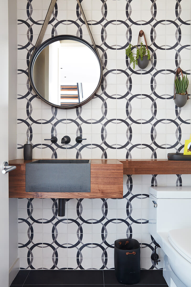 studio vara residential 21st street patterned tile bathroom