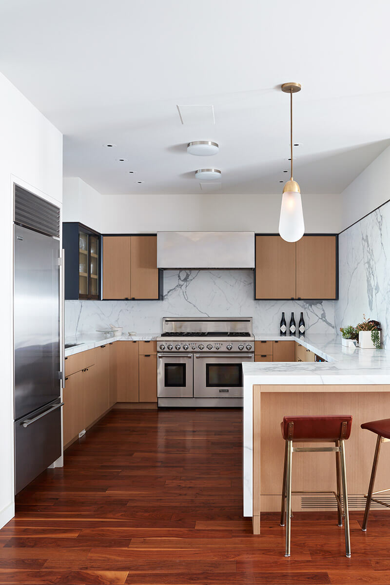 studio vara residential 21st street kitchen marble