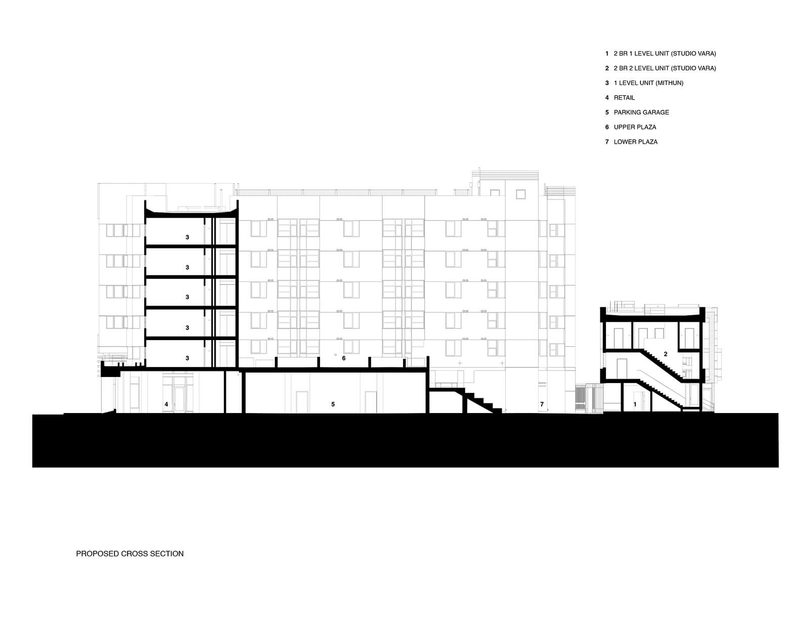 studio vara multifamily 626 mission bay blvd. drawing section