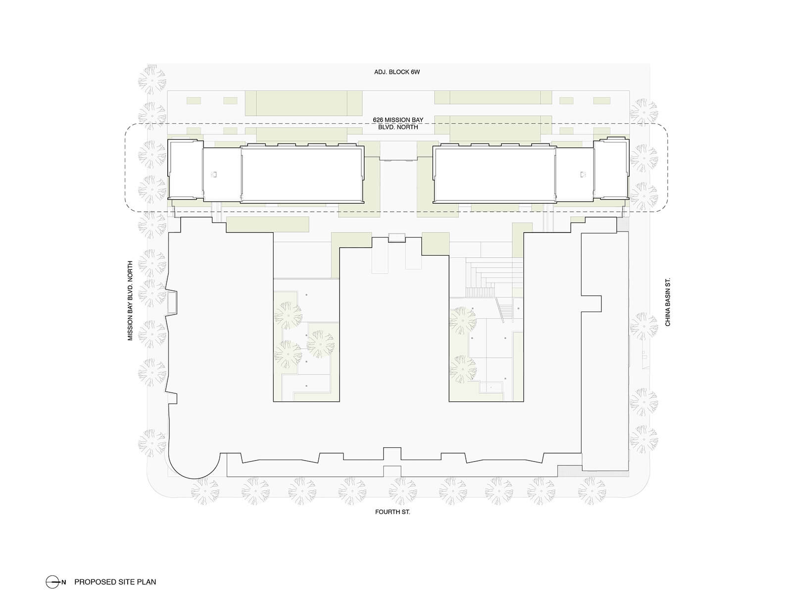 studio vara multifamily 626 mission bay blvd. site plan
