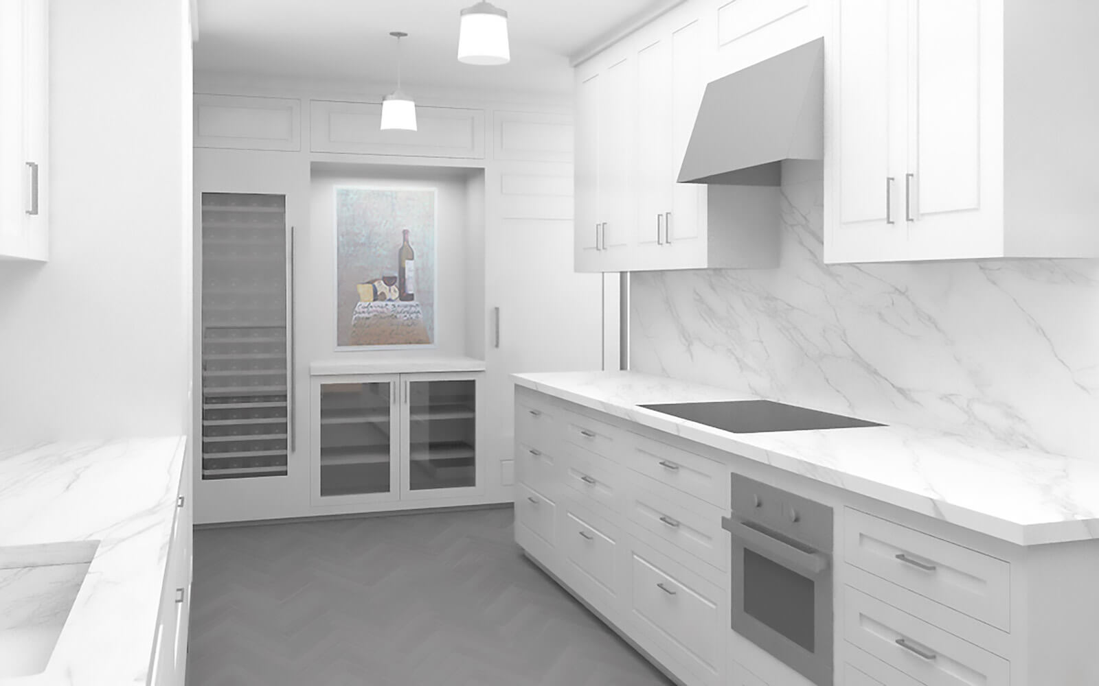 studio vara residential broadway co-op marble rendering