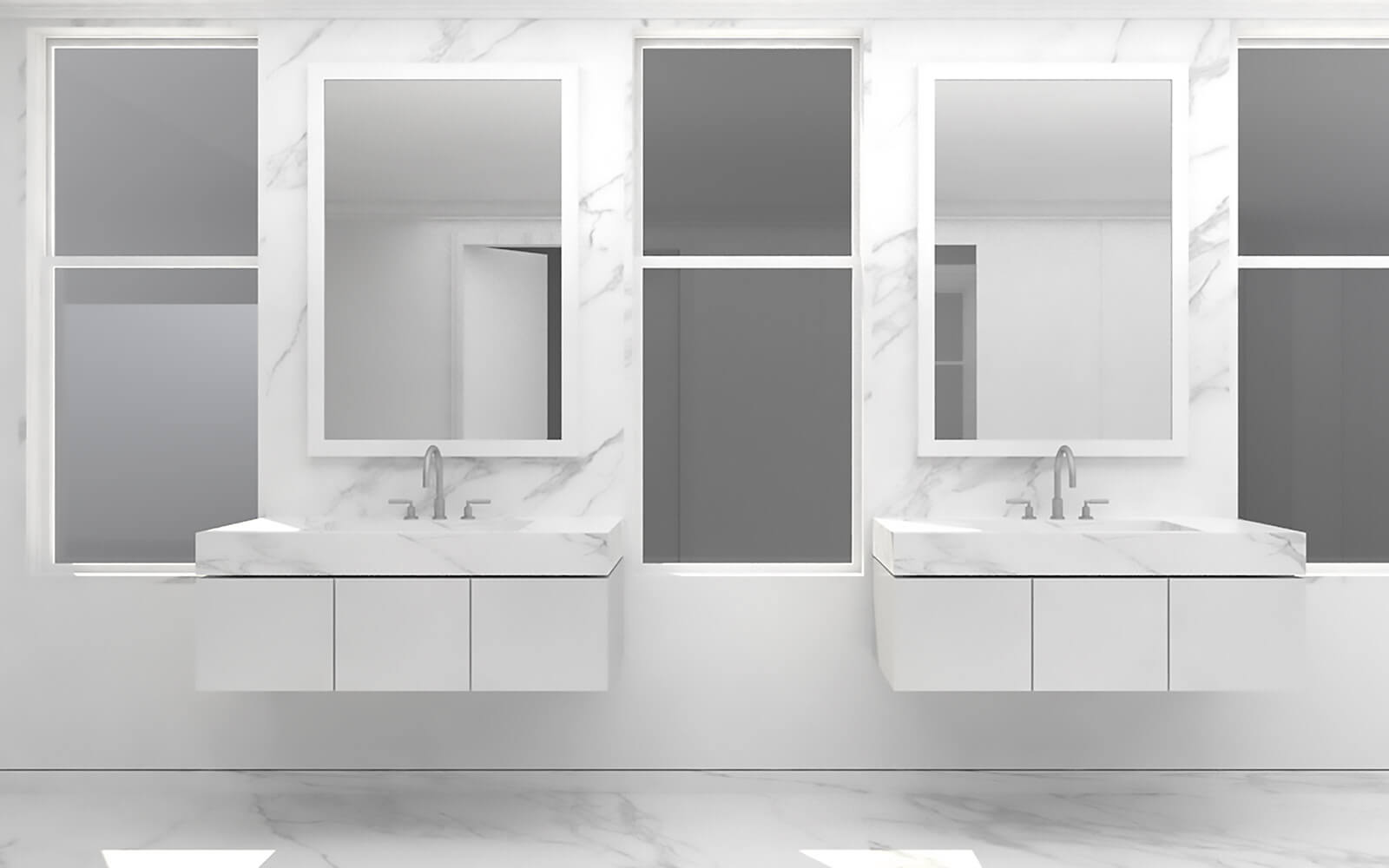 studio vara residential broadway co-op bathroom rendering