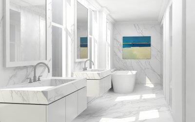 studio vara broadway co-op residential interior bathroom