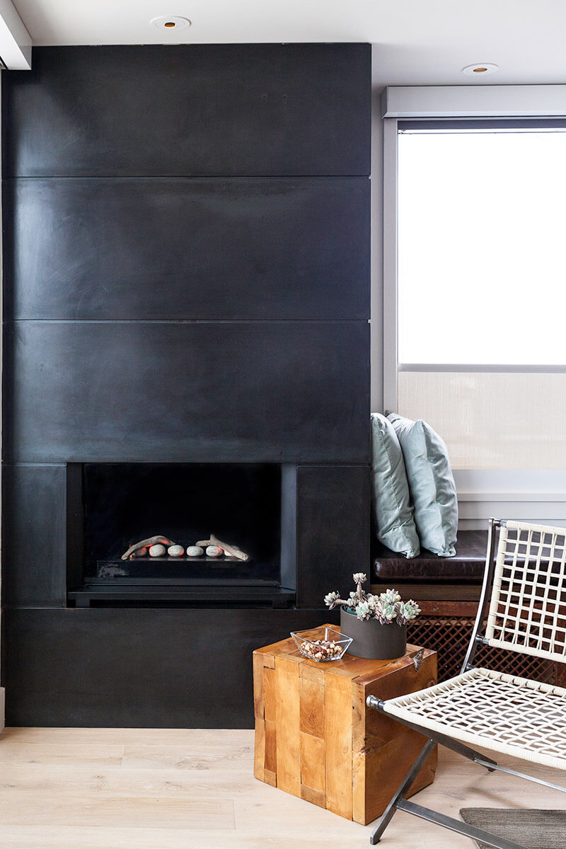studio vara residential grant fireplace dark interior