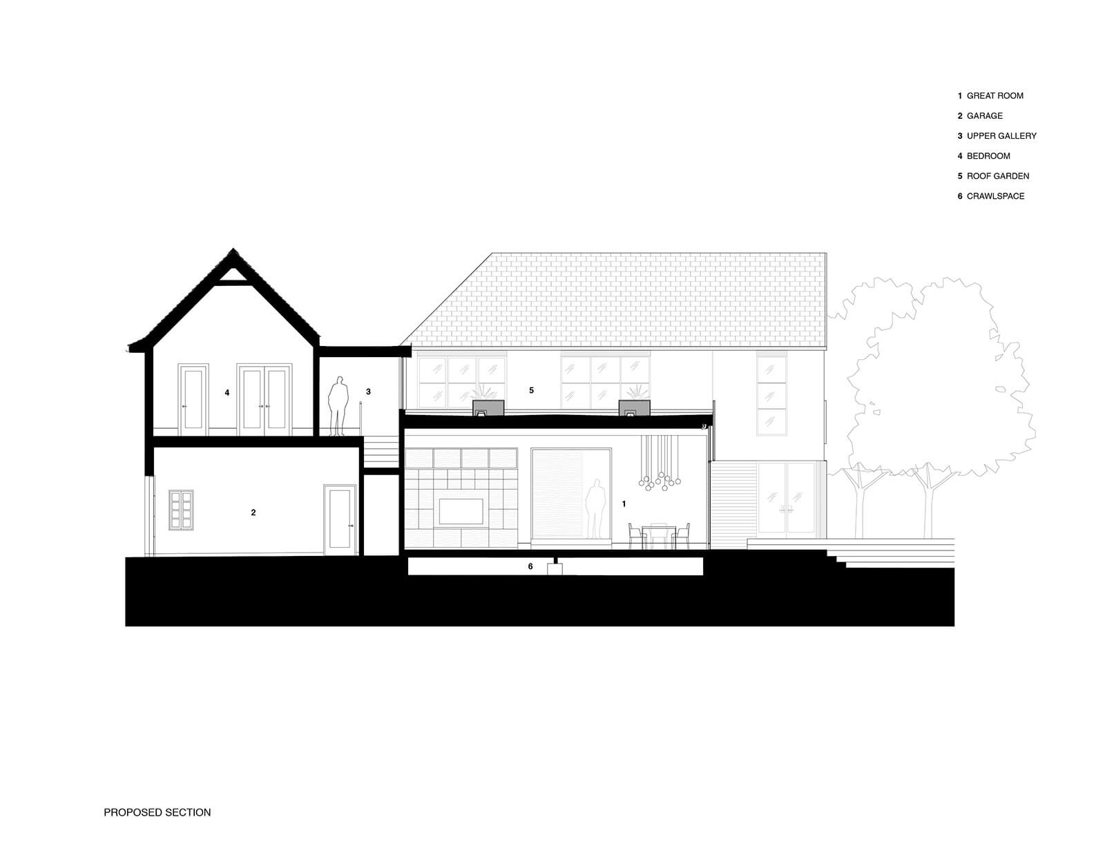 studio vara residential hillsborough drawing section