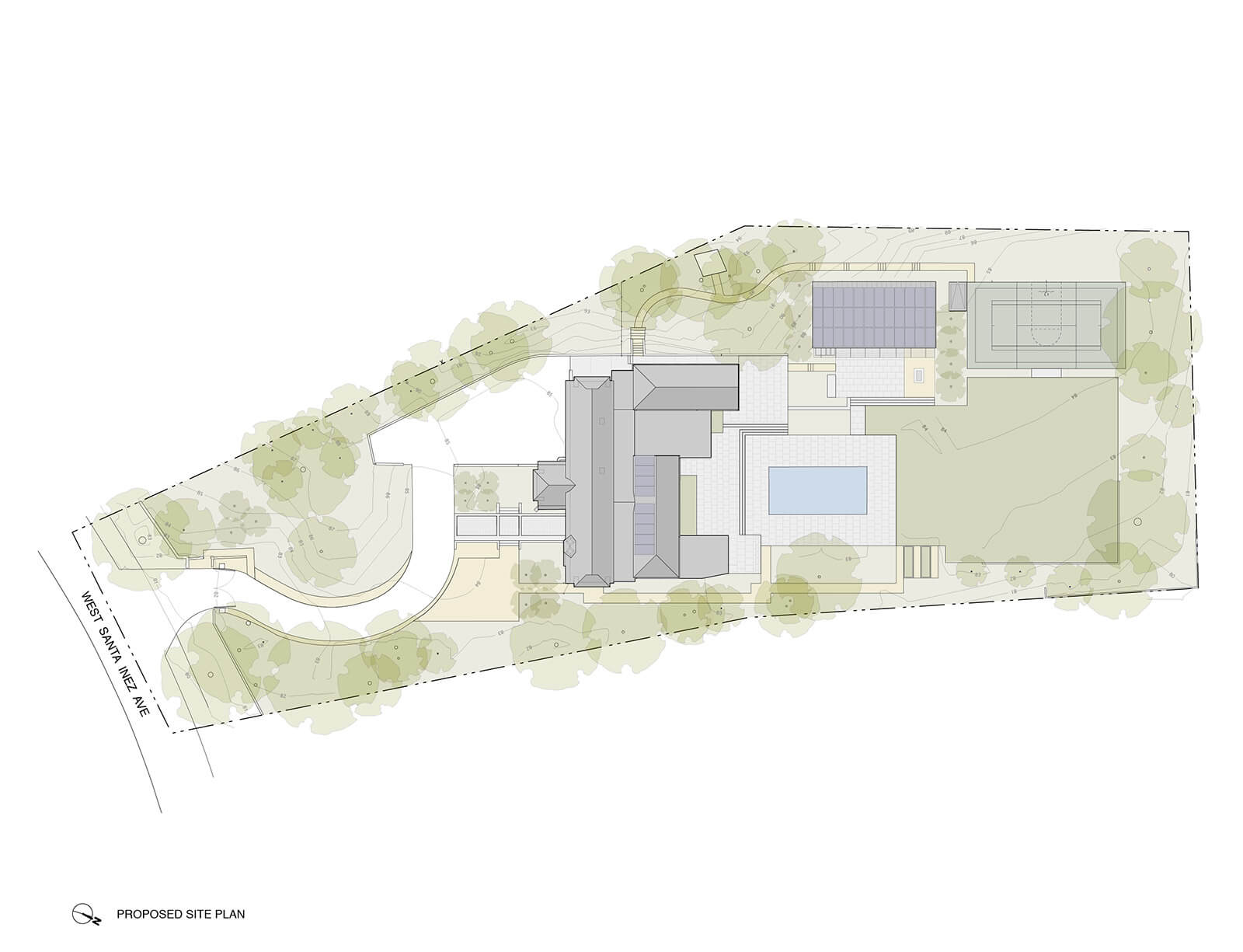studio vara residential hillsborough drawing site plan