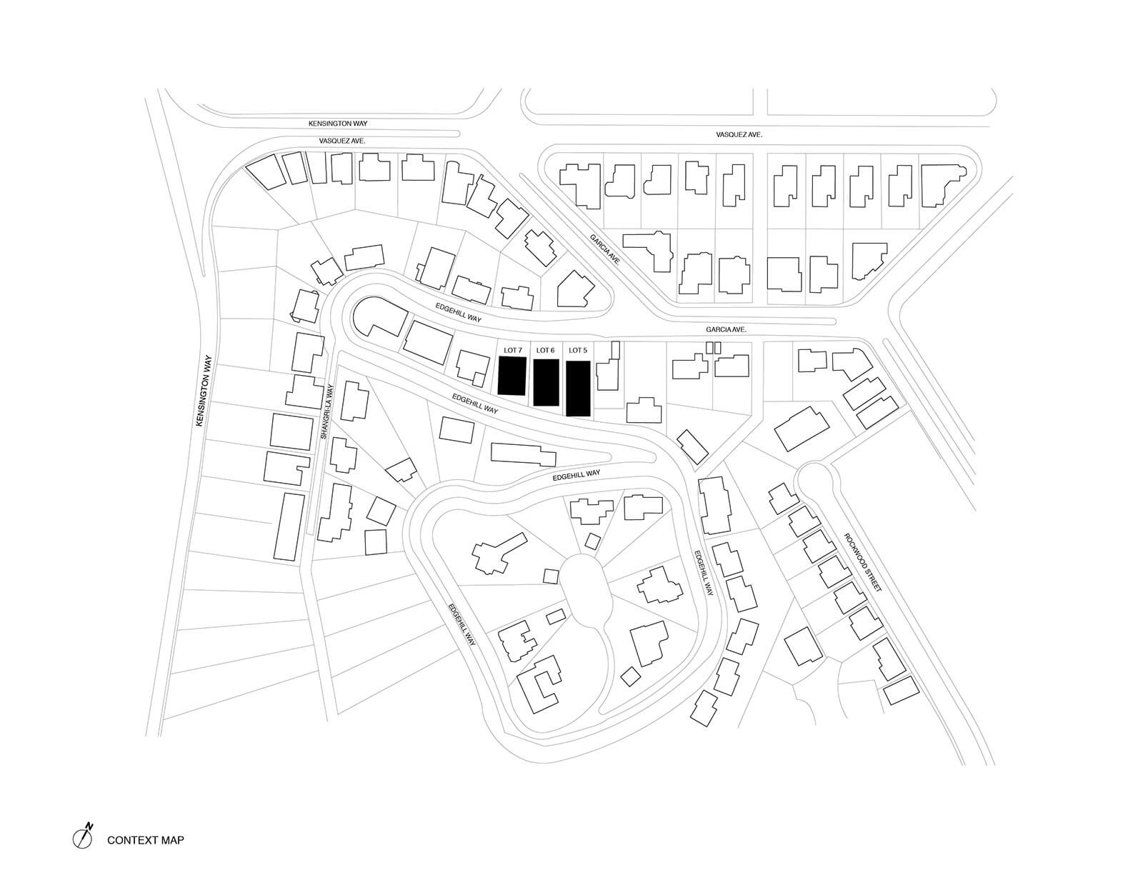 studio vara multifamily hillside master plan drawing context map