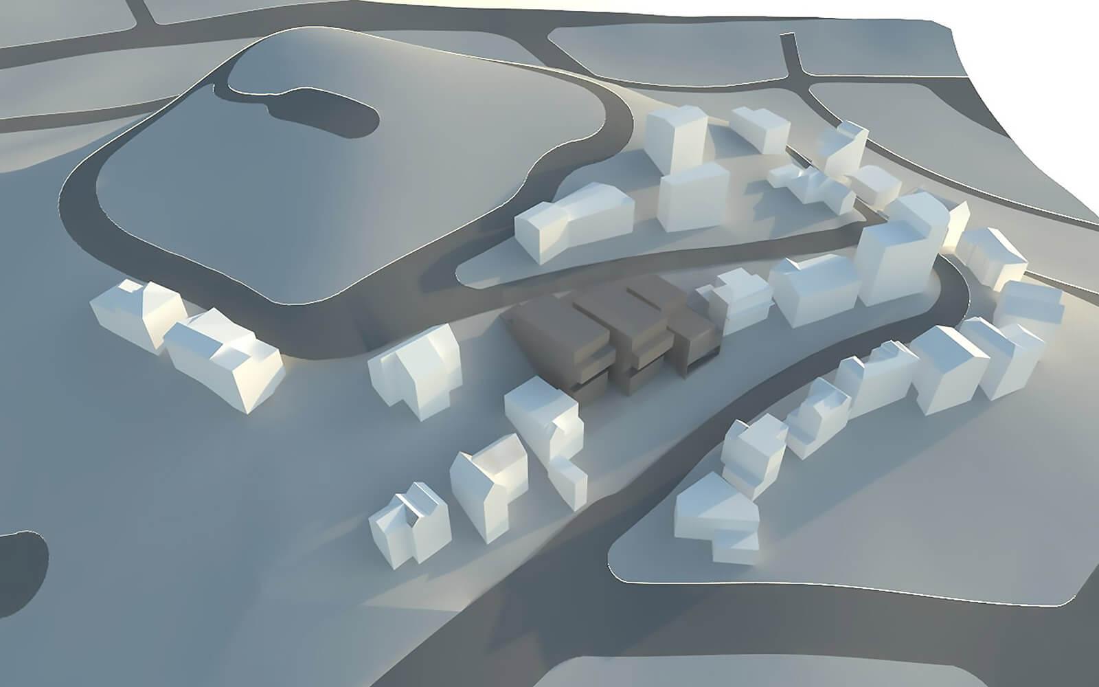 studio vara multifamily hillside master plan drawing exterior