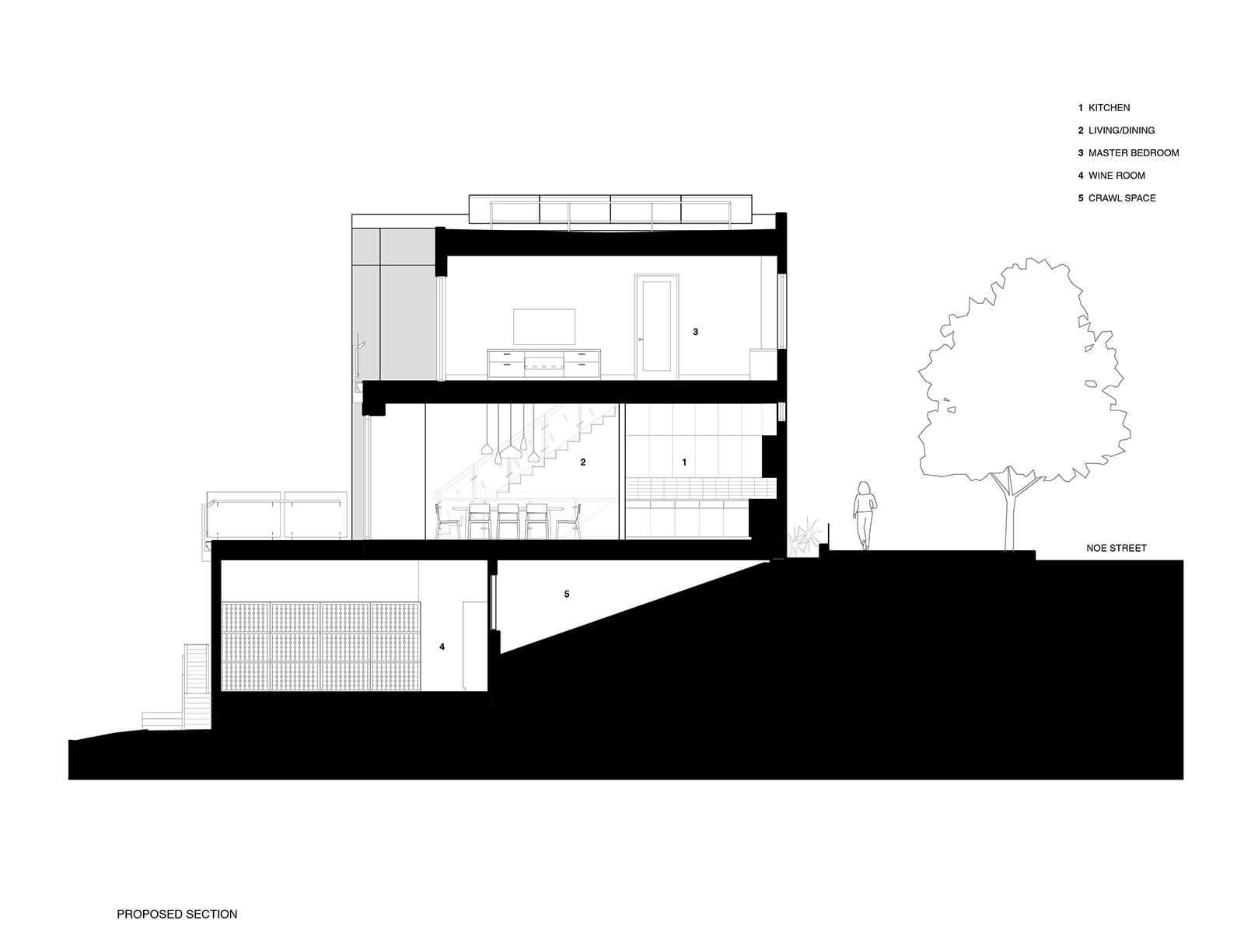 studio vara residential noe drawing section