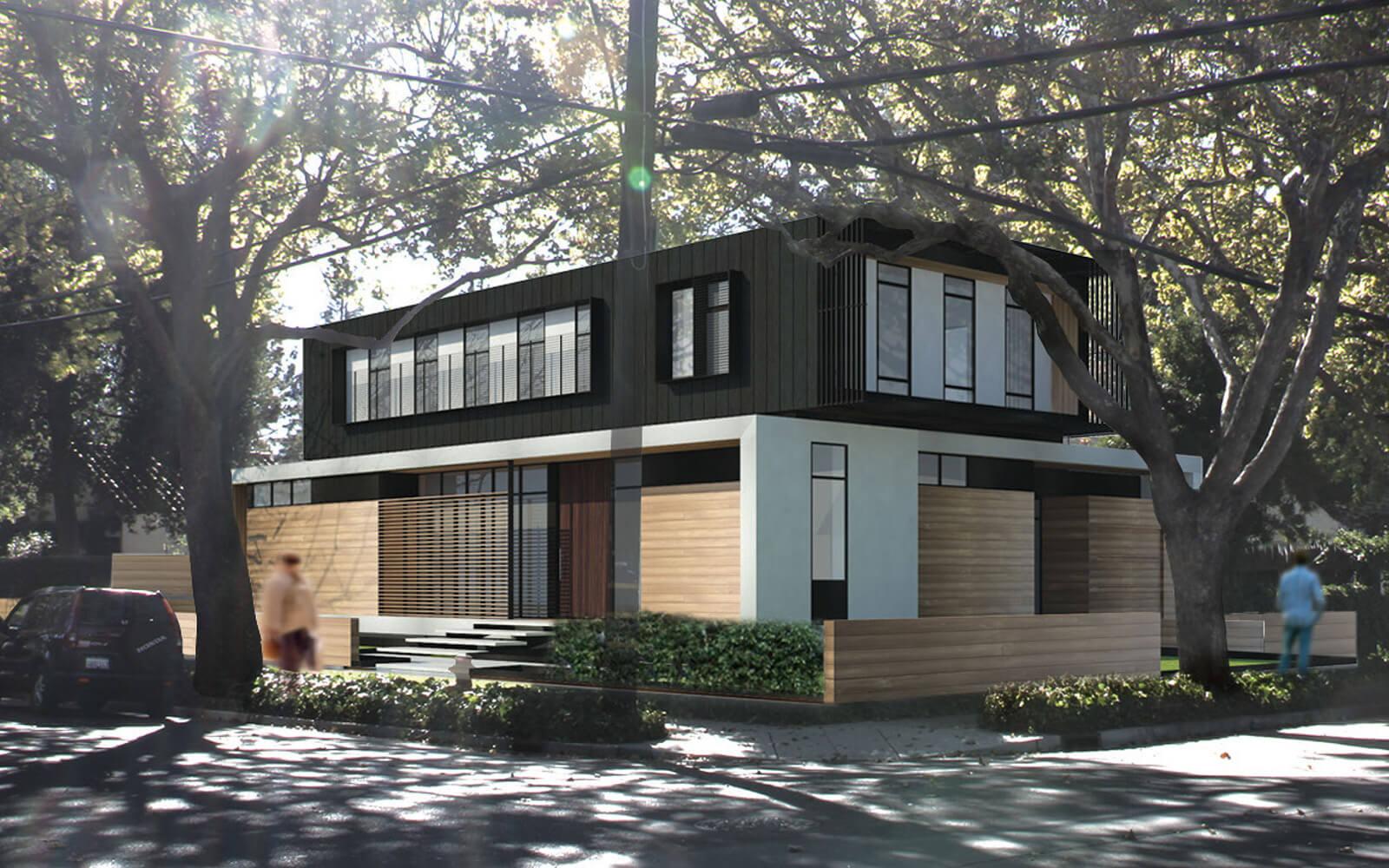 studio vara residential palo alto exterior rendering