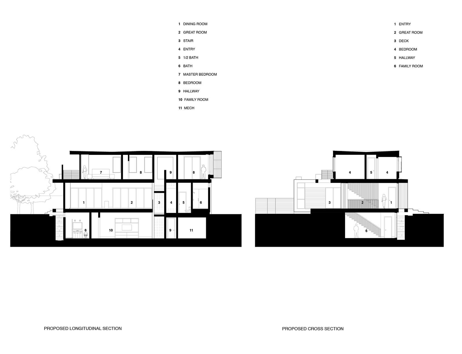 studio vara residential palo alto drawing section