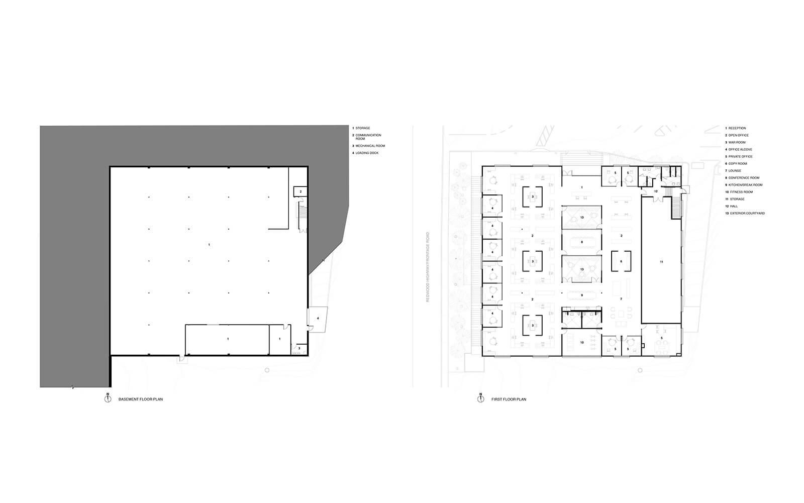studio vara workplace redwood highway drawing floor plan