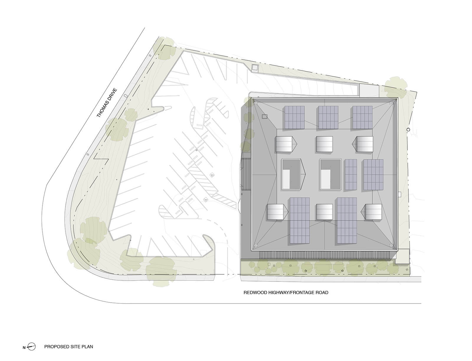 studio vara workplace redwood highway drawing proposed site plan