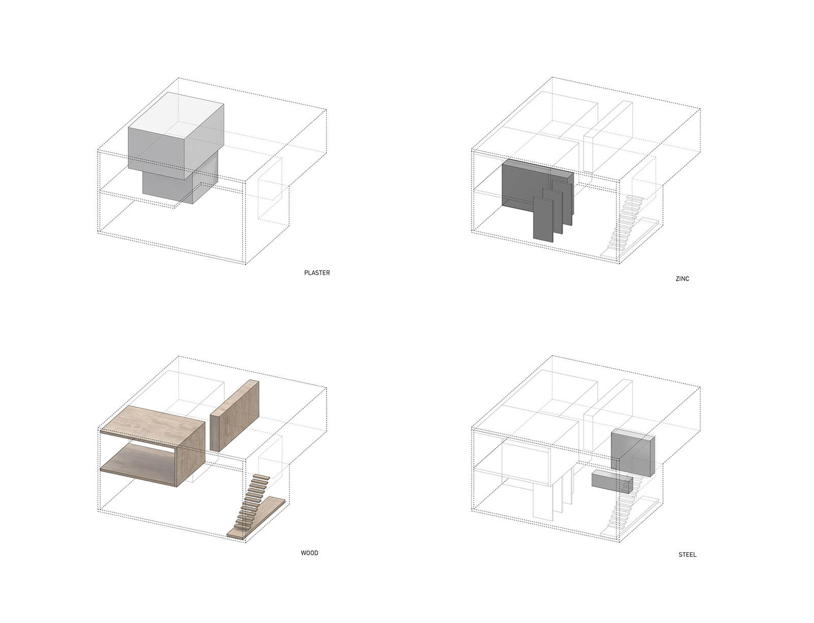 studio vara residential soma loft diagram material distribution