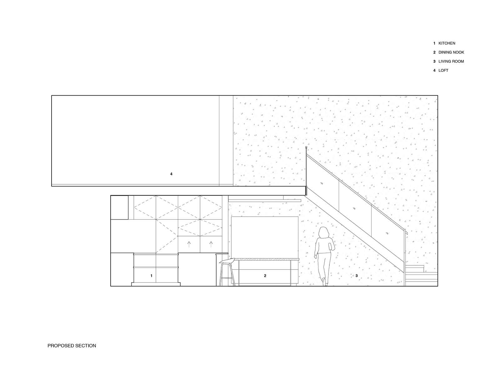 studio vara residential soma loft drawing section