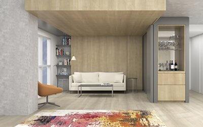 studio vara residential soma loft living room rendering
