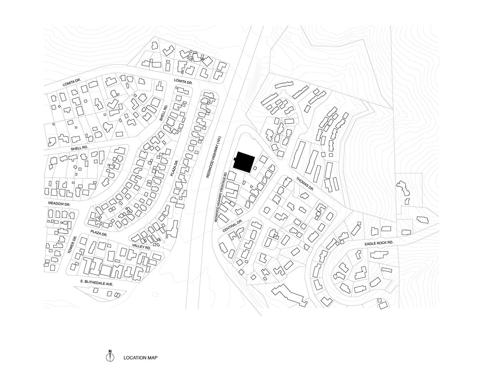 studio vara case study redwood highway drawing location map