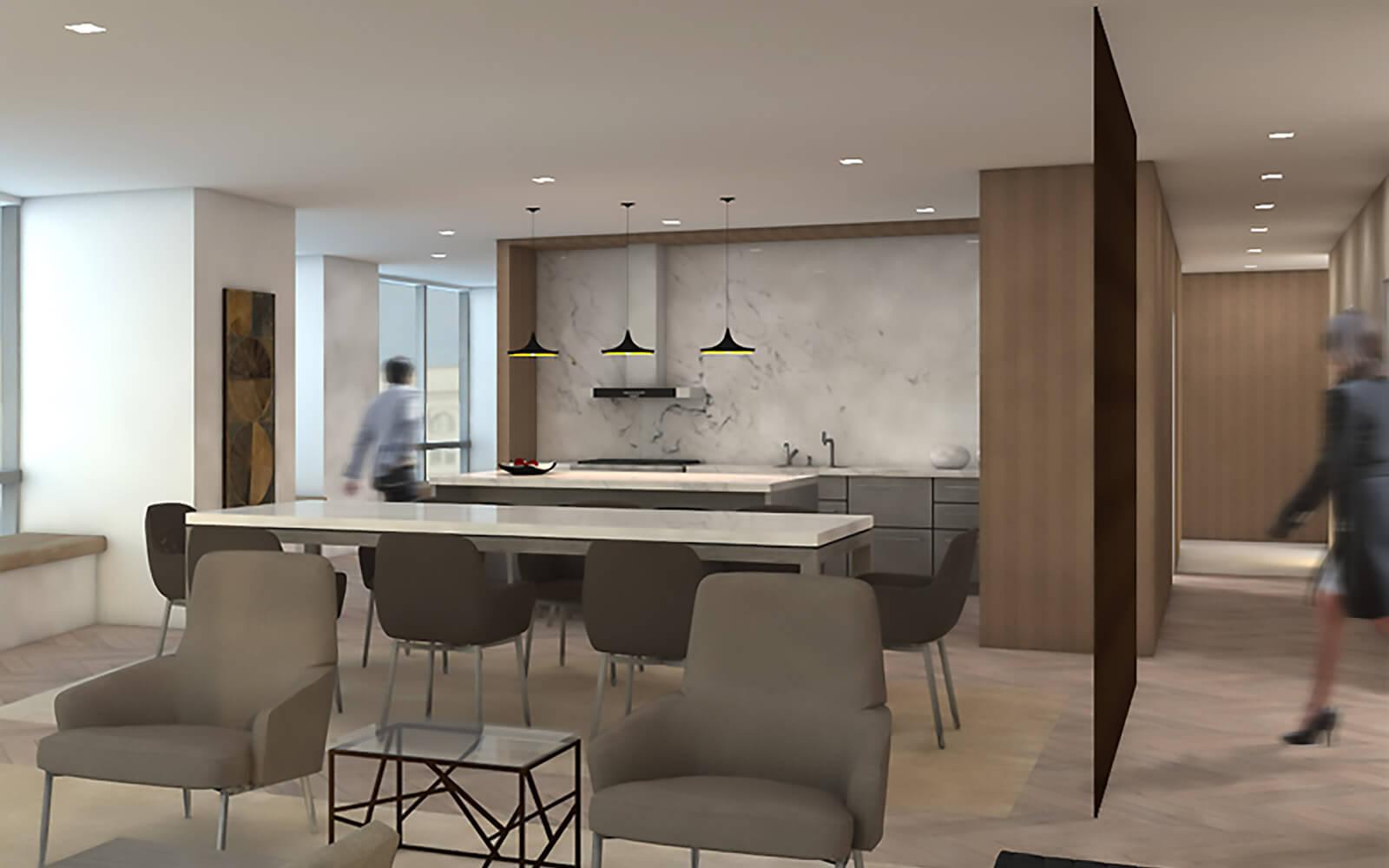 studio vara residential four seasons dining area rendering