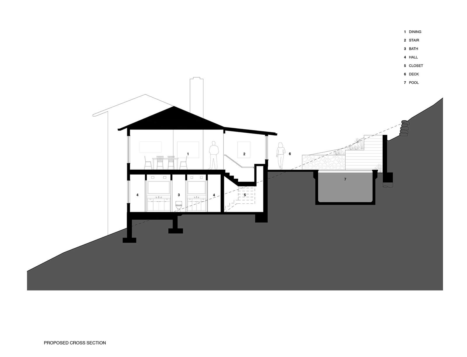 studio vara residential Kentfield drawing section
