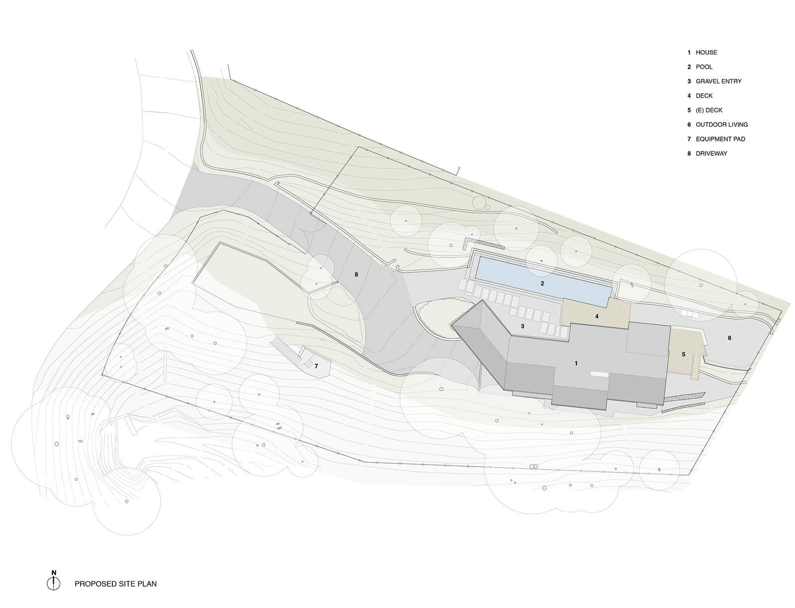 studio vara residential Kentfield drawing site plan