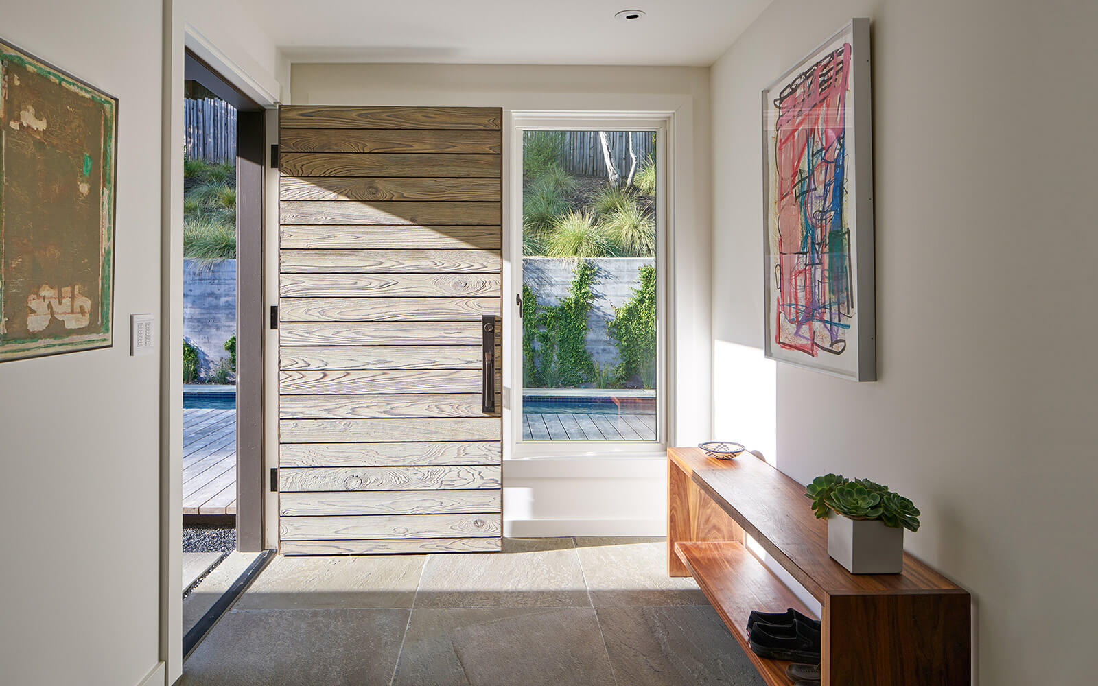 studio vara residential Kentfield entry wood door