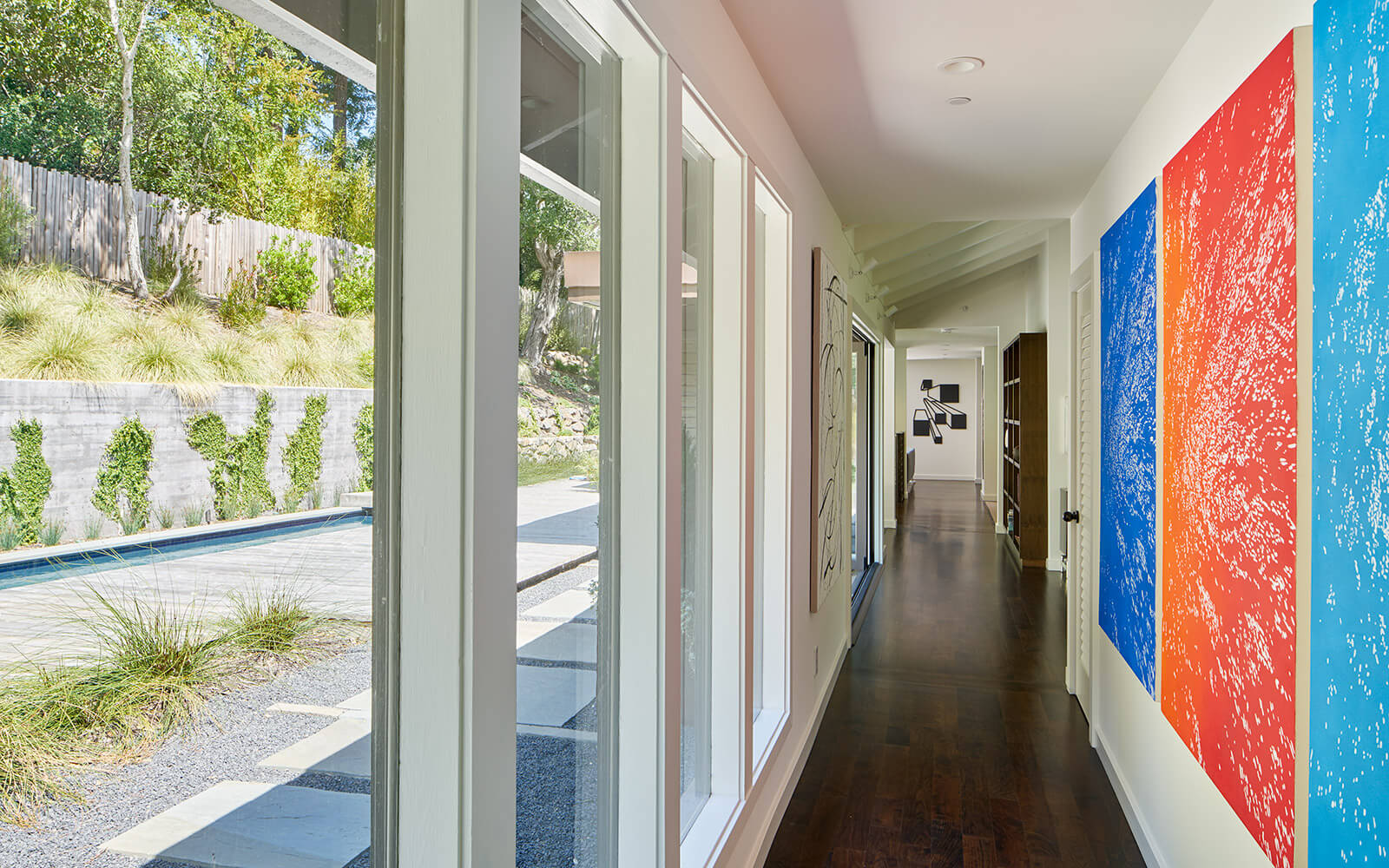 studio vara residential Kentfield hallway art