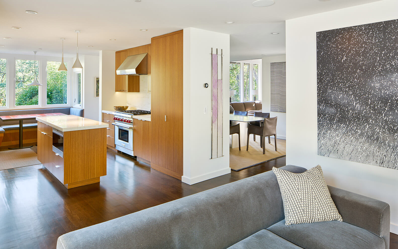 studio vara residential Kentfield kitchen dining area