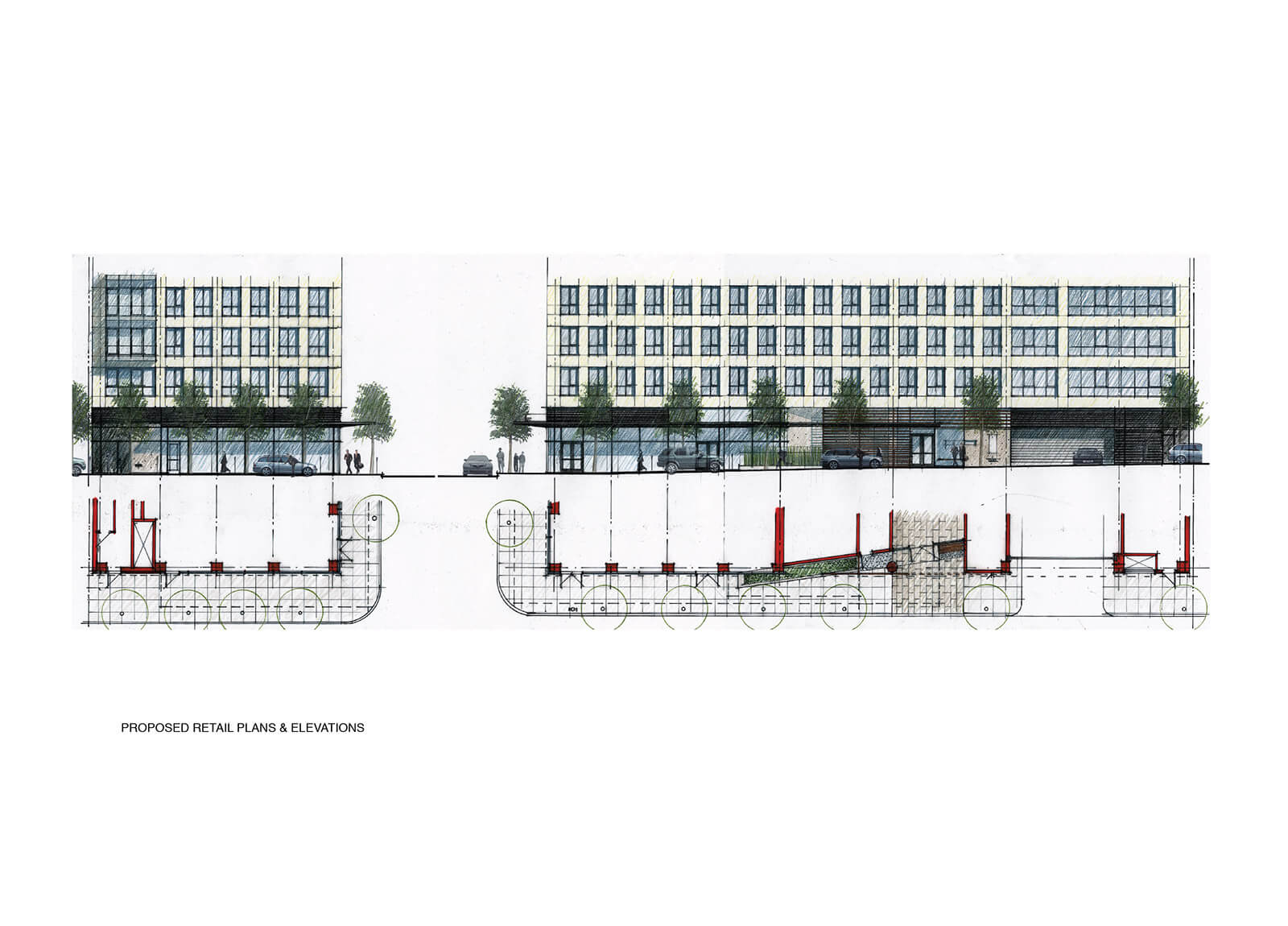 studio vara multifamily one hawthorne drawing plan elevation