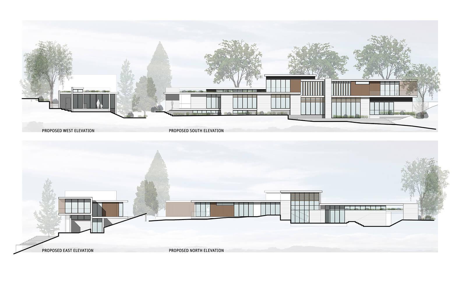 studio vara residential woodside i drawing elevations