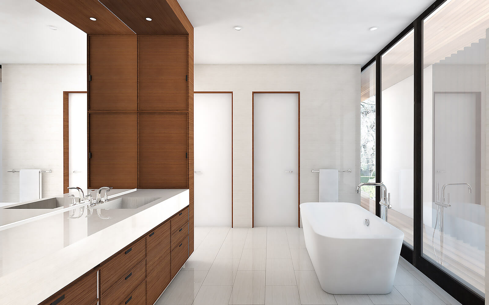 studio vara residential woodside i bathroom rendering