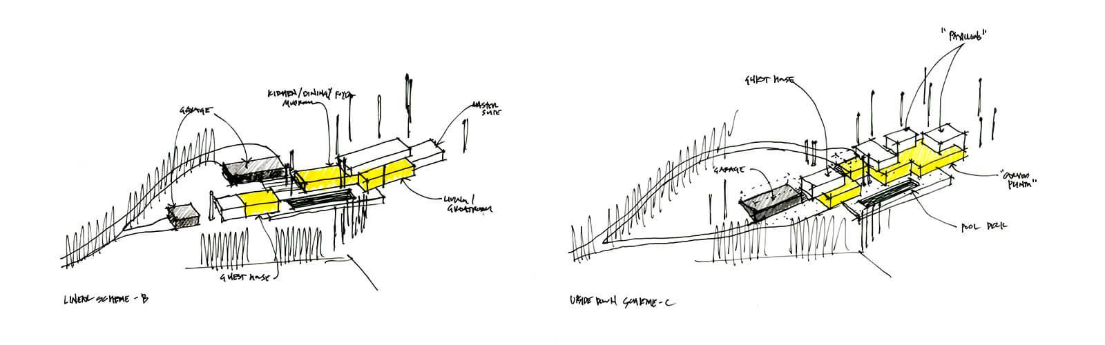 studio vara residential woodside i diagram massing