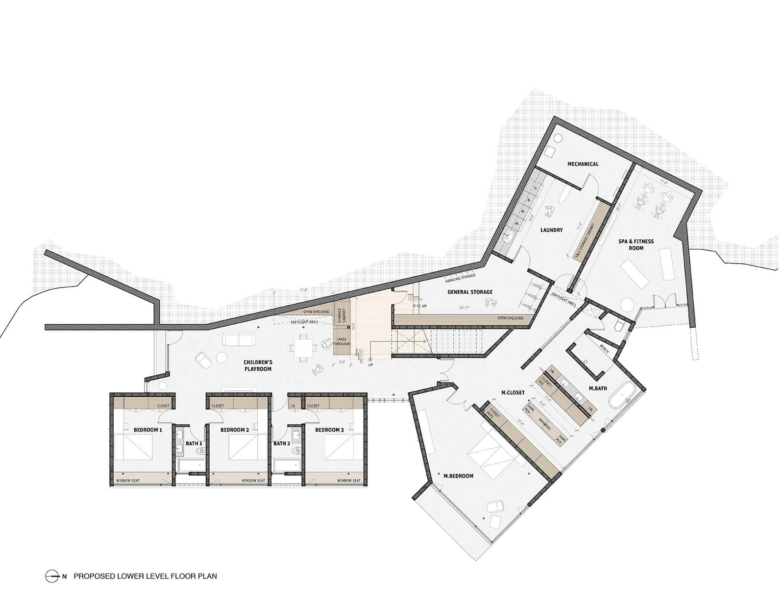 studio vara residential woodside ii drawing lower level plan