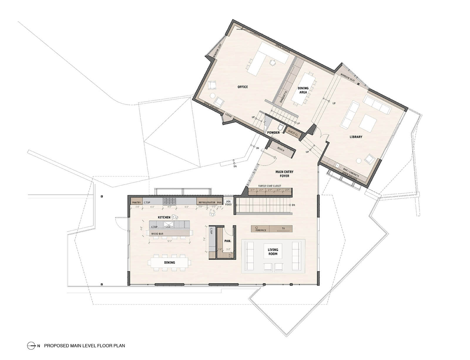 studio vara residential woodside ii drawing upper level plan
