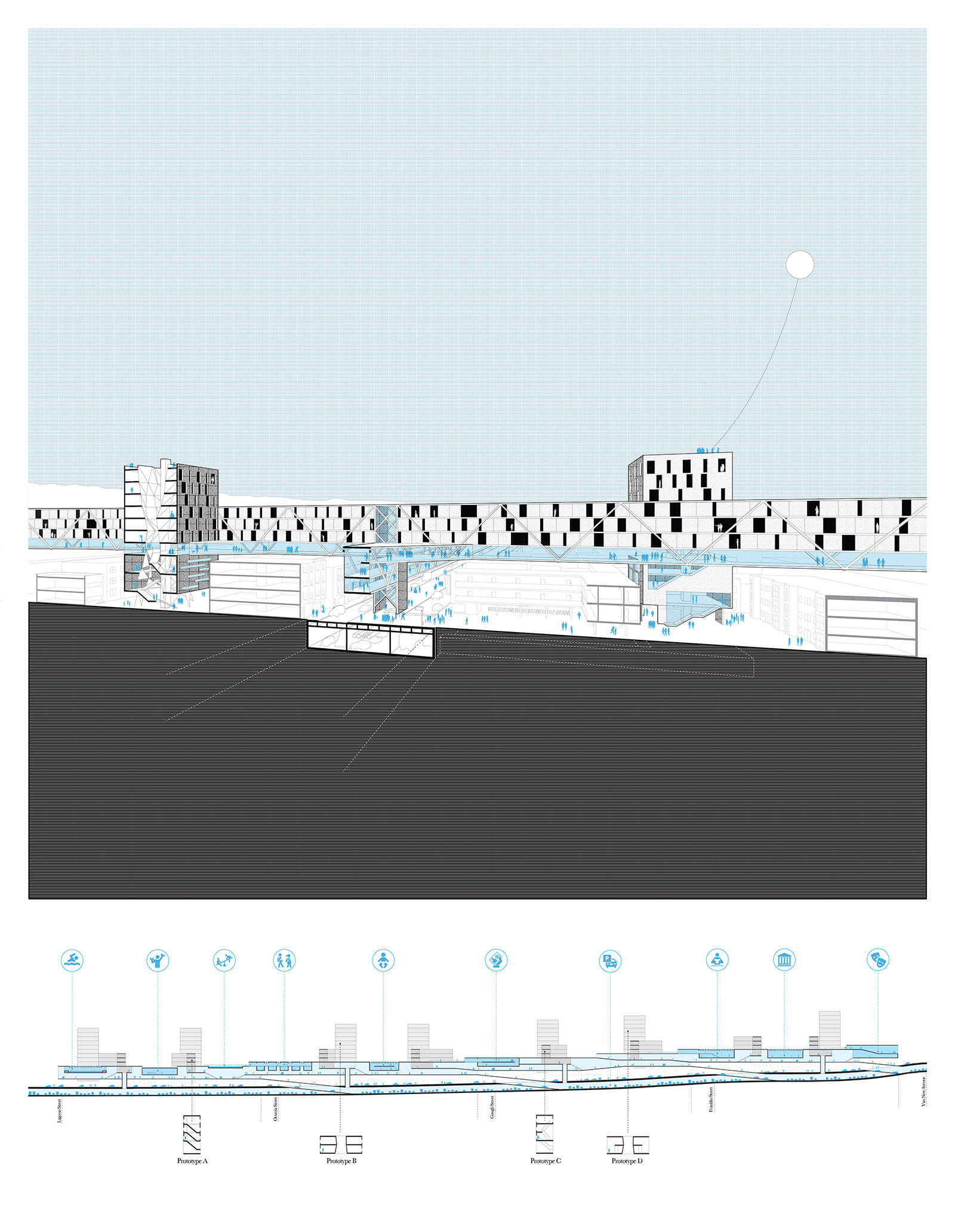 studio vara research the city + the city drawing rendering