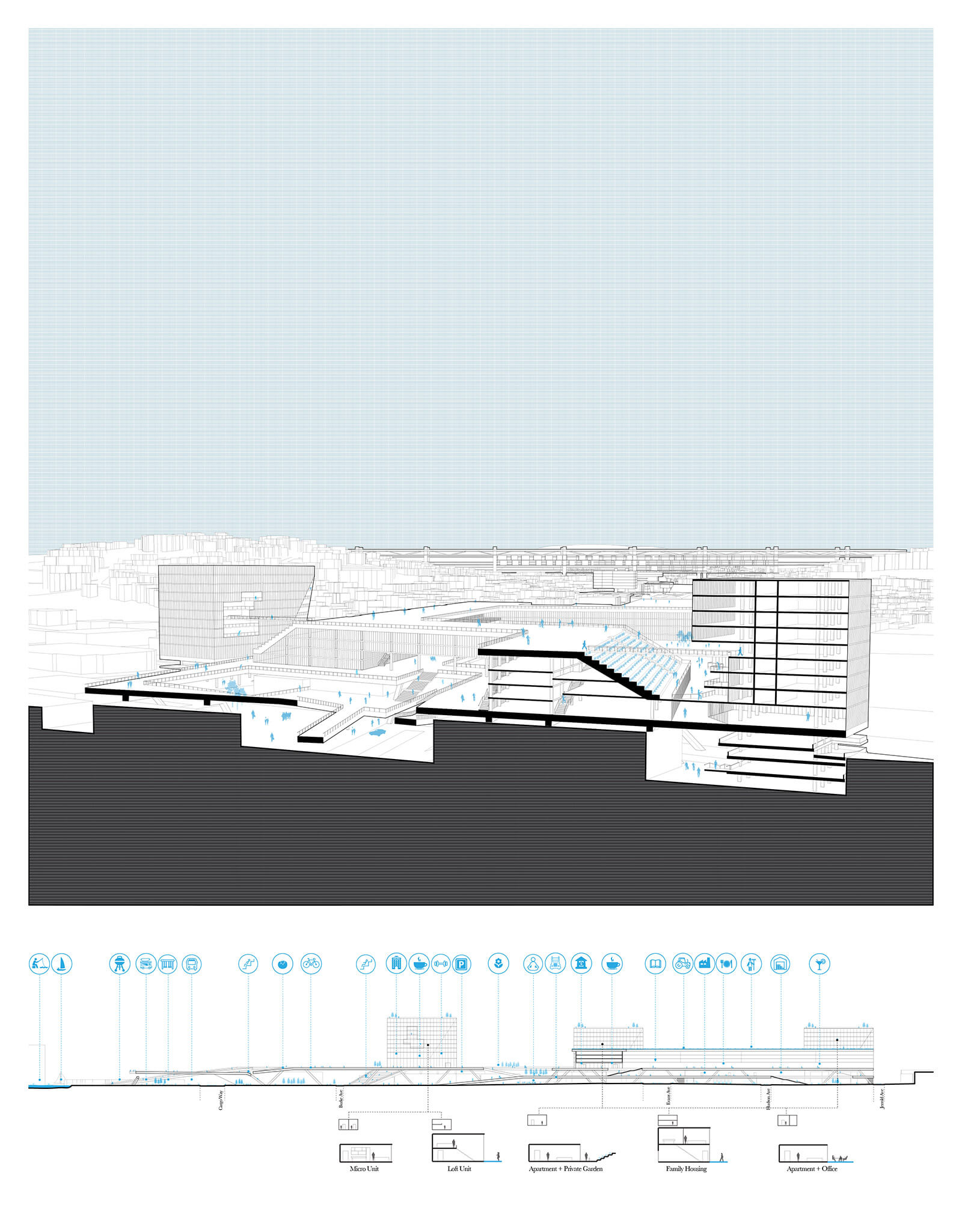 studio vara research the city + the city drawing site plan