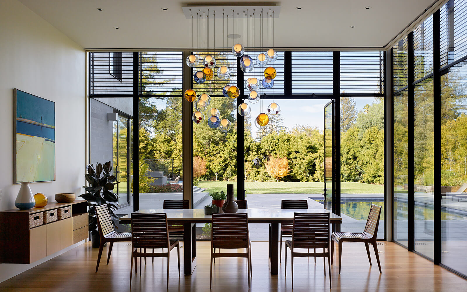 studio vara residential hillsborough dining room landscape