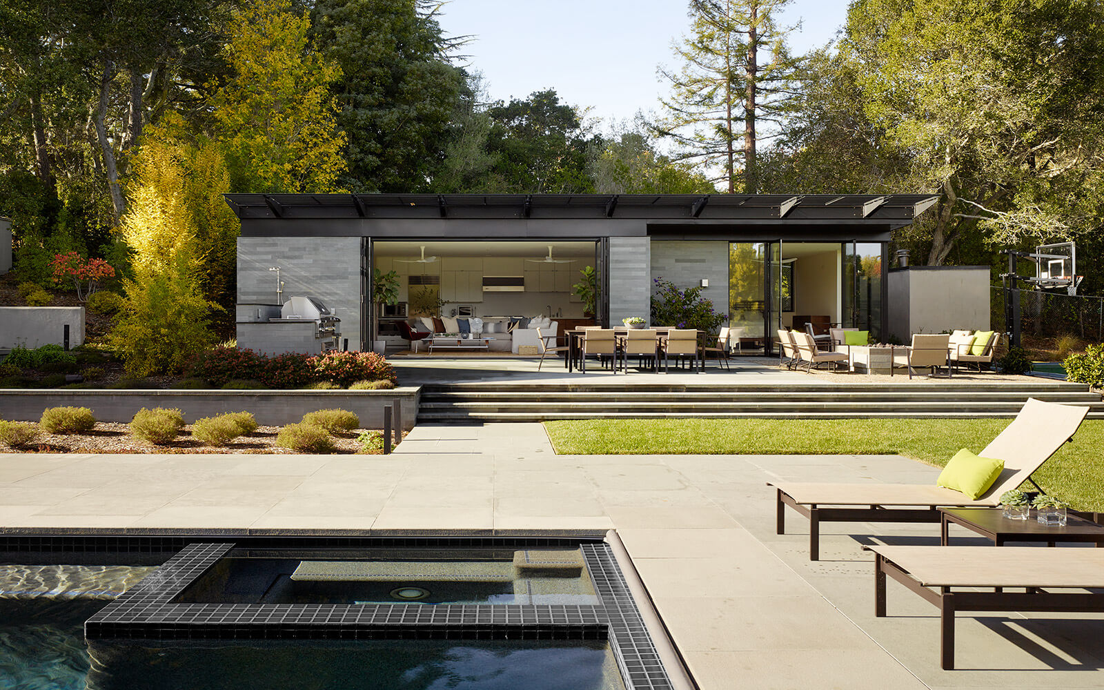 studio vara residential hillsborough pool house landscape