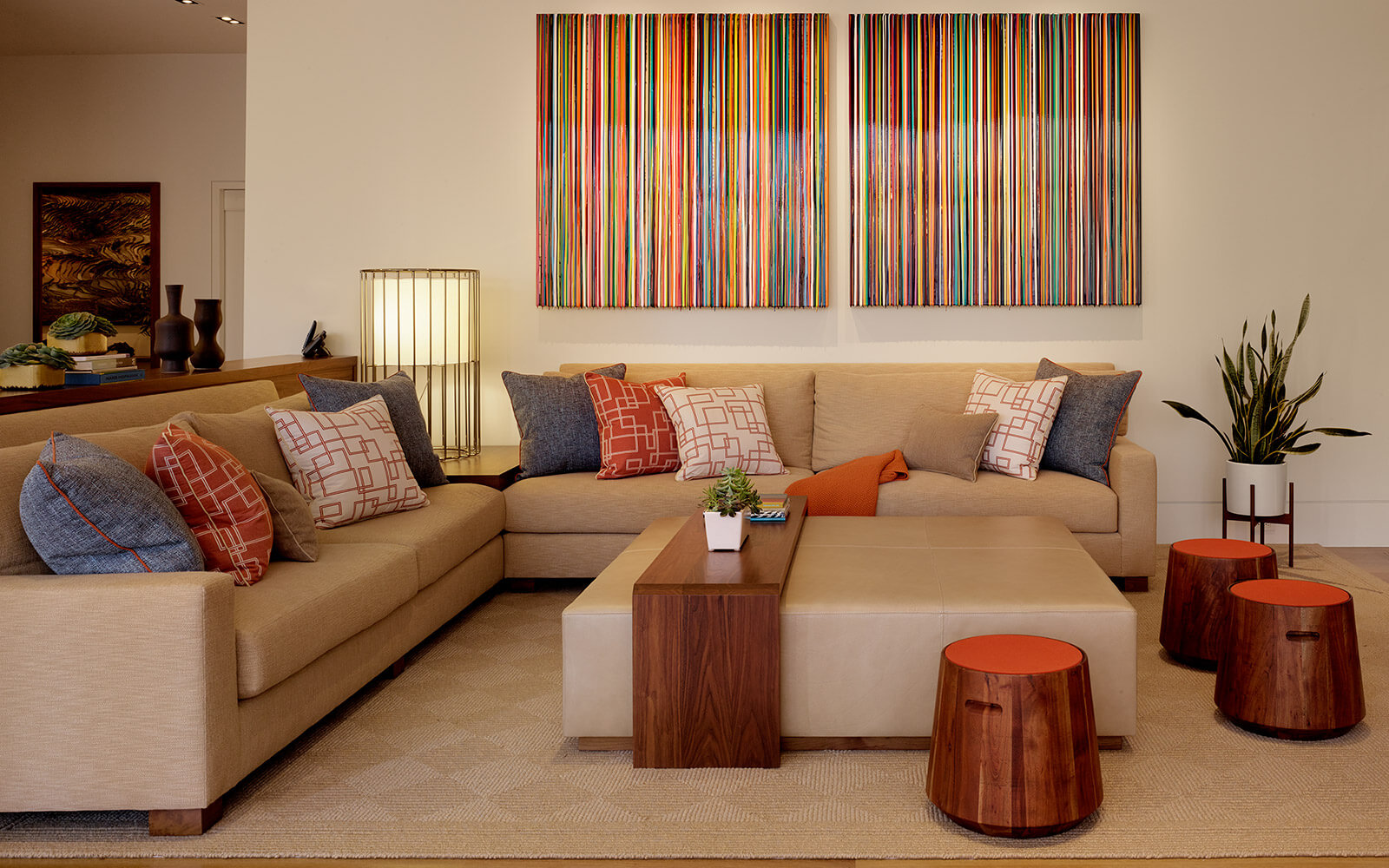 studio vara residential hillsborough living room art