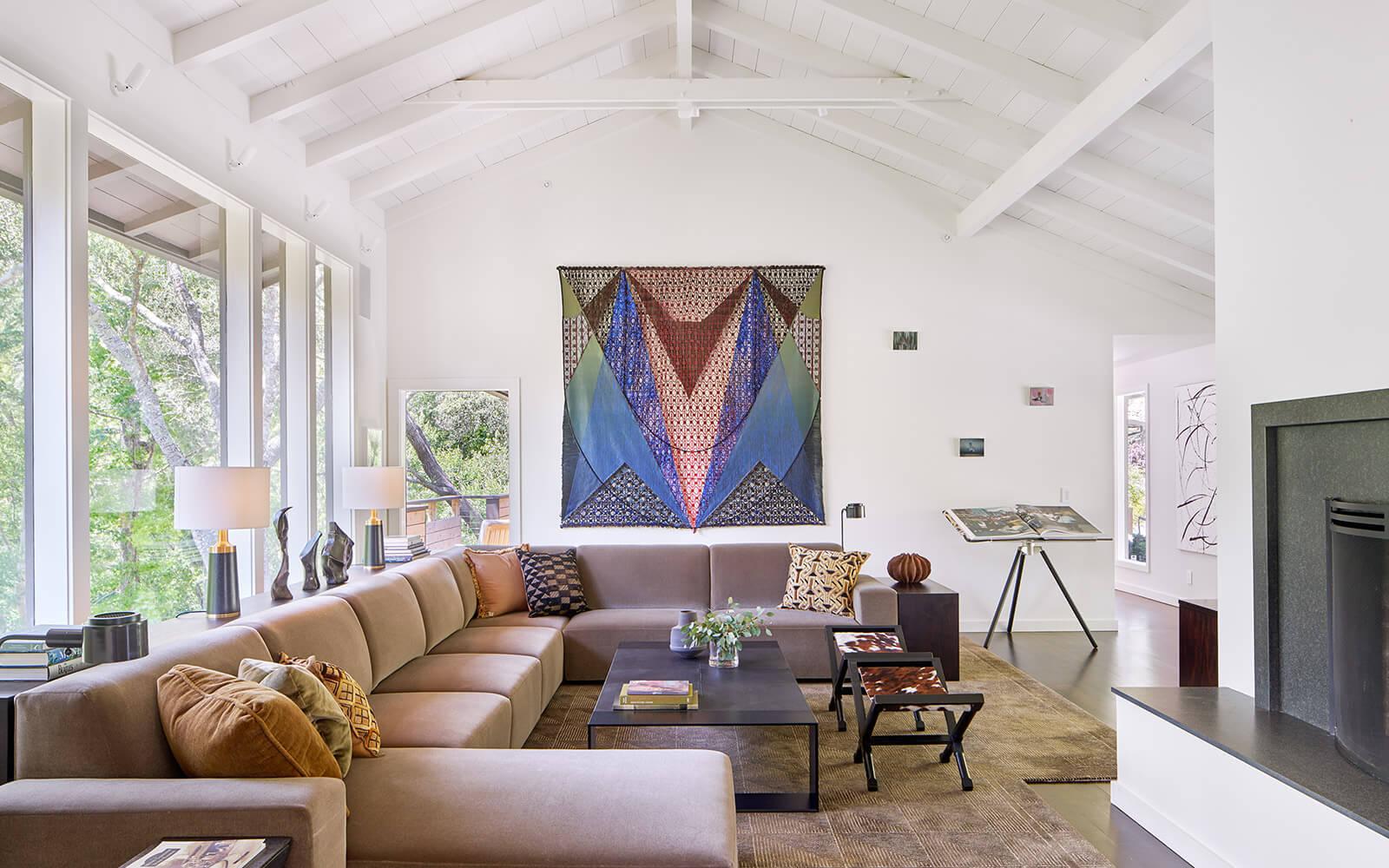 studio vara residential Kentfield living room interior
