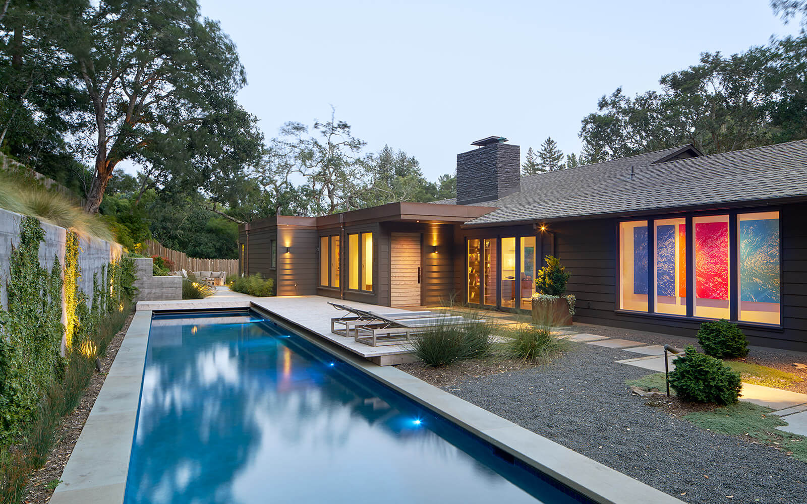 studio vara residential Kentfield pool backyard landscape