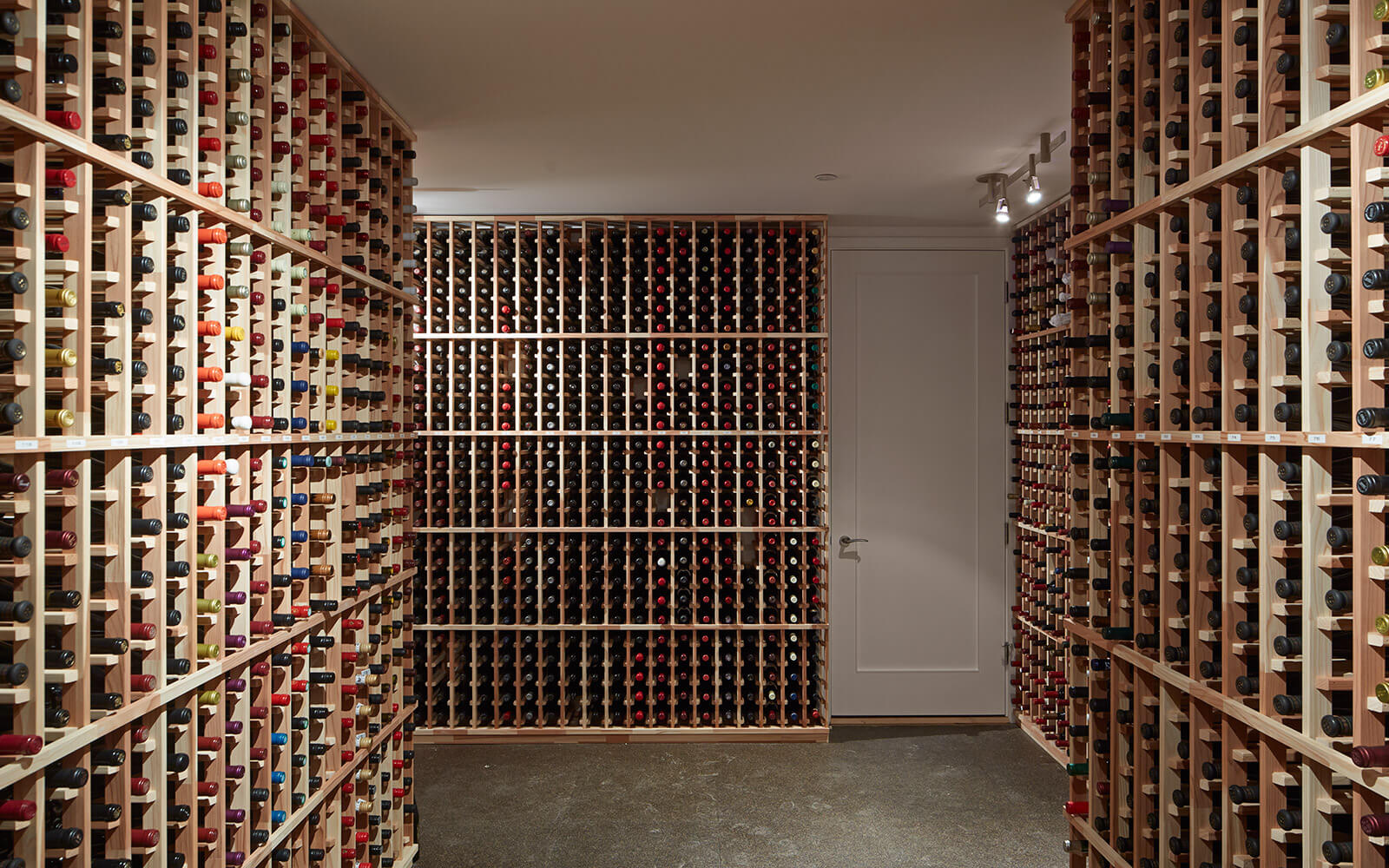 studio vara residential noe wine cellar rack