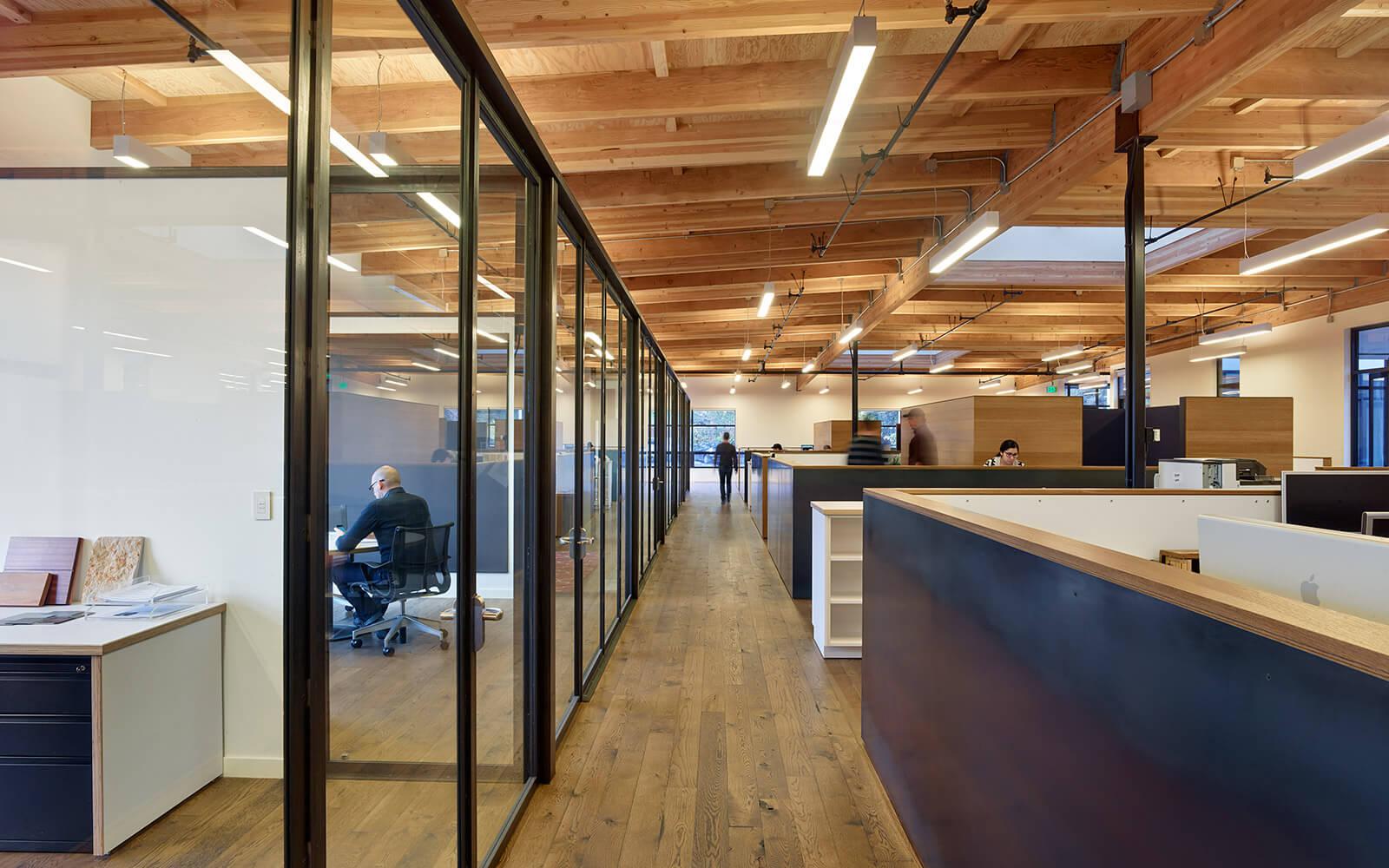 studio vara workplace redwood highway interior walkway
