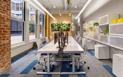 PEI Office: empty desks