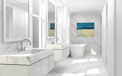 studio vara broadway co-op residential interior bathroom